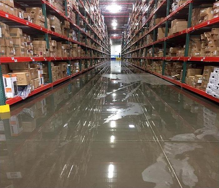 Commercial Water Damage In Fort Worth  Before