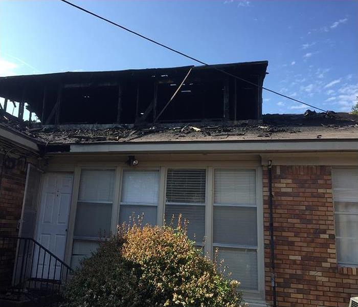 Residential Fire Damage In Fort Worth