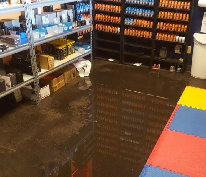 Commercial Water Flood Damage in Keller