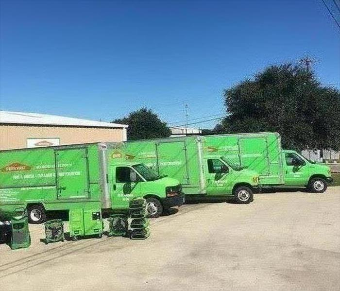 SERVPRO vehicles ready to go